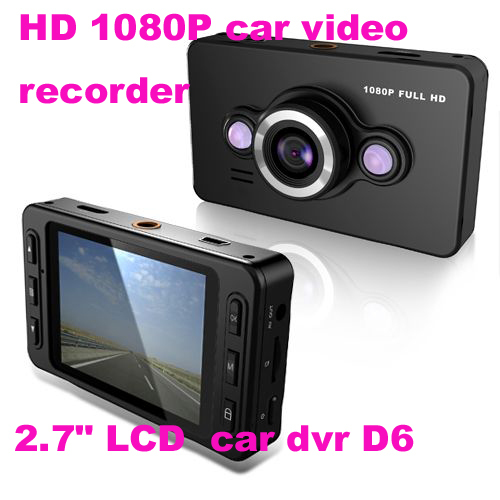 "FULL HD 1080P car video recorder with 140 degrees ultra wide angle lens,2.7"" LCD car dvr D6(China (Mainland))"