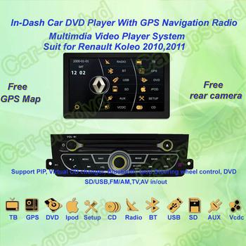 2010,2011 Renault Koleo DVD Player ,with GPS Navi,Multimedia Video Radio Player system+Free Camera+Free GPS Map+Free shipping!!!