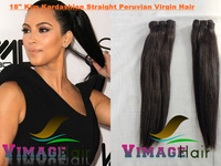 brazilian virgin hair  16inch and 18inch 2pcs  silky straight free shipping no shedding and tangle free