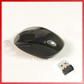 2013 Newest Fashionable USB Wireless Mouse 2.4GHz Receiver F PC Laptop Wireless Optical Black And Gray Free Shipping