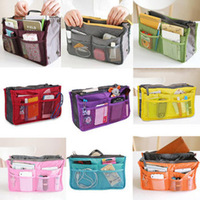Free Shipping Women Makeup handbags Travel Insert Handbag Organizer Purse Large liner Organizer Bag 80516