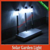 Free Shipping Updated Stainless Steel Solar Lawn Lamp,Outdoor solar light,multiple colors,Xmas light,lovely solar garden lamp