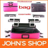Professional cosmetic bags red black cosmetic bag big capacity cosmetic box Korean families receive bag Free shipping make up
