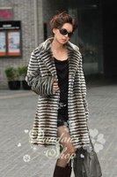 (CD-007)free shipping new fashion women's Faux rex rabbit fur coat/fur garment of European Style/ Big size/winter coat/wind coat
