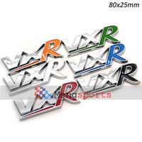100pcs 3D Sight VXR Car Red White Black Blue Green Orange Sticker Emblem Badges