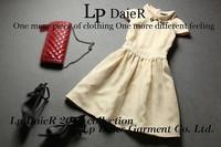 High quality Summer and Autumn Fashion Organza women ladies Princess Dress S M L Free shipping