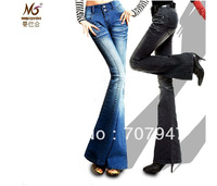 Free shipping new bell bottom jeans slim thickening black jeans woman fashion flare jeans slim skinny leggings for women 2014