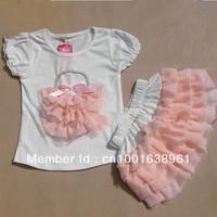 Girls Suits girls pink leopard Short sleeve T-shirt+leopard TUTU skirt Girls Dresses set 4pcs/lot LJ018