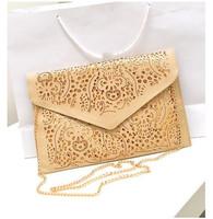 Free shipping!2014 vintage national women's trend handbag cutout envelope bag shoulder cross-body bag day clutch bag