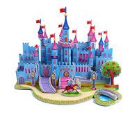 best selling Children educatinal toys 3D puzzle-Blue Castle