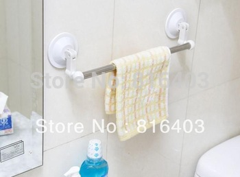Free shipping suction Stainless steel towel rack bar with 2 suction cup 55cm long