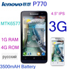 "In stock Support Russian lenovo P770 black gray phone MTK6577 3G Android 4.1 Dual-core 1.2G 4.5"" QHD IPS 3500mAH Battery"