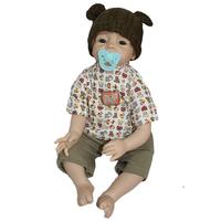 New Fashion 22 inches reborn babies handmade soft silicone vinyl blonde mohair lifelike newborn baby doll