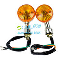 New 2x Motorcycle Turn Signals Lights Indicators Chrome Turning Lights 12V TK0143(China (Mainland))