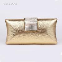 Free shipping, Famous designer bag, Classic wedding handbag,  PU Leather Rhinestone women's clutch purse/ evening bags/ bolsas