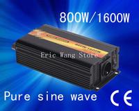 Best quality!!Pure sine wave 800w(  peak power1600w) power inverter(DC to AC) dc 12 v ac 110v/220v (CTP-800W)
