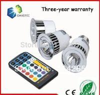 CE&Rohs 5W 480LMs birghtness MR16 GU10 GU5.3 E27 base type RGB Remote Control Bulbs 16 Color led spotlight bulbs hot price