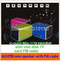 MD-05B  Portable mini speaker FM radio speaker USB U-Disk/Micro SD/TF card speaker