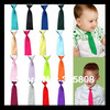 Free Shipping 10pcs/lot Boy toddle Tie Kids Baby School Boy Wedding Necktie Neck Tie Elastic Solid Color Satin