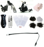 Free shipping Tattoo Machine Equipment Set Starter Kit 1 Guns Supply ink not include