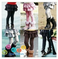 2015 new spring autumn and winter children clothes child clothing baby girl trousers child pants  girls pants kids skirt legging