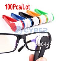 100Pcs/Lot New Mini Sun Glasses Eyeglass Microfiber Brush Cleaner Retail & Wholesale Free Shipping 8417