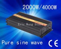 Best quality!!2000w 2kw (Peak 4kw)Pure sine wave inverter,home use invertor, dc 24 v ac 110v/220v (CTP-2000W)