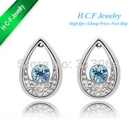 2014 New Jewelry wholesale Free shipping Popular crystal Austrian fashion crystal stud earring crystal earrings Tianzhu Princess