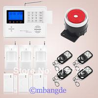Dual Net Wireless GSM PSTN Home Burglar Auto Dialer Alarm Security System PIR Free Shipping
