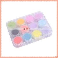 Free Shipping,New 100*12 Mix Colors Acrylic Powder Builder Nail Art Set,Nail Shell Powder Nail Beauty,1200Boxes/Set-H00621