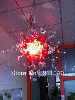 C12-Free Shipping Handblown Pink Chandelier Modern Lighting