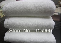 free shipping 5pcs/lot   150g double  thickness cotton white towel  hotel  towel