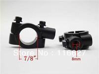Freeshipping Universal Motorcycle Handle Bar Mirror Mount Holder Clamp Adaptor 7/8 Black 8MM