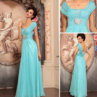 Dorisqueen square collar sweetheart evening dress with open back lace crystal dress blue prom dress plus size prom dresses 30750
