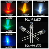 5Valusx1000pcs/Color=5000pcs New 5mm Round Red/ Green/ Blue/ White/ Yellow Ultra Bright LED kit