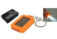 free shipping Wholesale Christmas gifts solar keychain flashlight