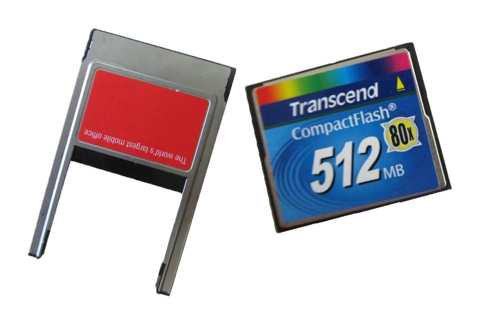 Карта памяти Transcend 512 80 X CF /512m + PC Card PCmcia 512MB флеш карта 512 мегабайт mms 1 где в красноярске