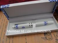 Merry Christmas git /Hot sale White and Bule procelain Metal pen /Metal Taishang Executive pen/Free shipping