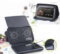Free shipping, 10 inch tablet case speaker.  tablet speaker case , multi color.