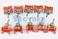 New 10Pcs/Lot 2-Pin ON-OFF Toggle Switch 15A 250V Free Shipping TK0261
