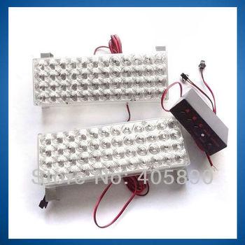 3pcs/lot Car Strobe Light 48 LED X 2 LED Flash Warning Light with Control Box 12V High Quality