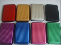 Free shipping 1pc Solid color Aluminium material credit card case wallet,cool 8 colors to choose BG001
