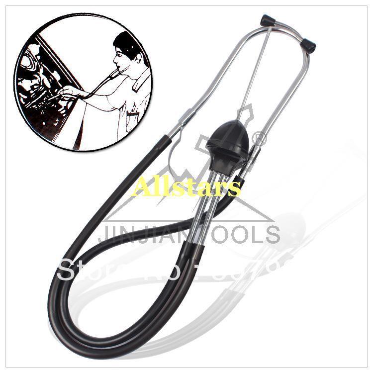 Free Shipping Brand New Mechanic Stethoscope Automotive Engine Diagnostic Tool with 2 Probe(China (Mainland))