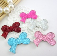 Free shipping!New 100pcs/lot 30*18mm bowknot shape flatback Resin rhinestone for DIY Decoration