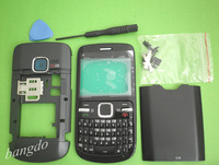 MOBILE PHONE BLACK HOUSING COVER FASCIA +KP TOOL FOR NOKIA C3