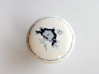 10Pcs Furniture Hardware Ceramic Blue And White Porcelain Cabinet Pull Handle (Diameter:33mm)
