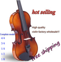 Free shipping bailing violin 1/4 3/4 4/4 1/2 1/8violin Send violin case, rosin