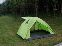 Free shipping 3-4 Person Double layer  tent  Outdoor Camping  hiking Tent Traveling  waterproof  tents