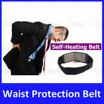 Free Shipping Tourmaline Belt 1pcs Neck + 1pcs Waist , Self-heating Tourmaline Waist Belt with Magnets Slimming Belt for Health