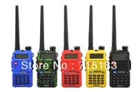 Free Shipping New 2013 Baofeng UV-5R Dual Band CB Radio 400-520MHz&136-174MHz the portable two way radio with Free PTT headphone